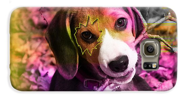 House Broken Beagle Puppy Galaxy S6 Case by Marvin Blaine