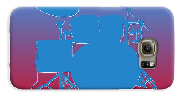 Houston Oilers Drum Set Galaxy S6 Case by Joe Hamilton