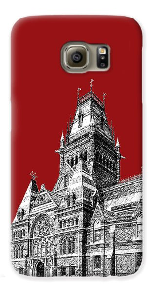 Harvard University - Memorial Hall - Dark Red Galaxy S6 Case by DB Artist