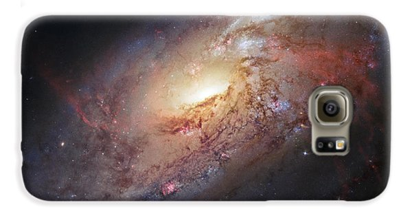 Hubble View Of M 106 Galaxy S6 Case by Adam Romanowicz