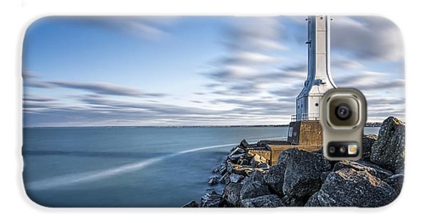 Huron Harbor Lighthouse Galaxy S6 Case by James Dean