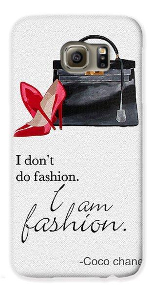 I Am Fashion Galaxy S6 Case by Rebecca Jenkins