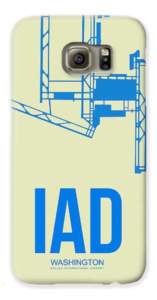Iad Washington Airport Poster 1 Galaxy S6 Case by Naxart Studio