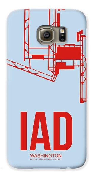Iad Washington Airport Poster 2 Galaxy S6 Case by Naxart Studio