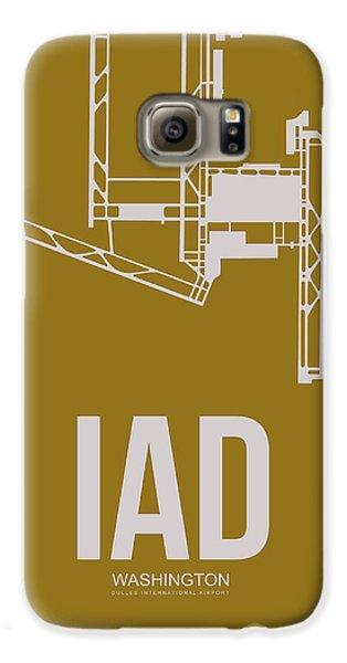 Iad Washington Airport Poster 3 Galaxy S6 Case by Naxart Studio