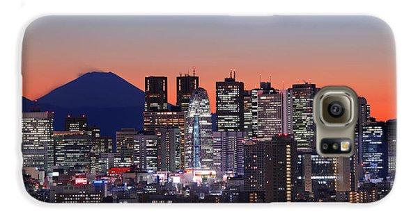 Iconic Mt Fuji With Shinjuku Skyscrapers Galaxy S6 Case by Duane Walker