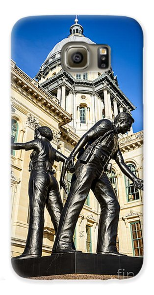 Illinois Police Officers Memorial In Springfield Galaxy S6 Case by Paul Velgos