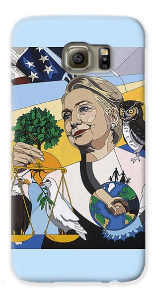 In Honor Of Hillary Clinton Galaxy S6 Case by Konni Jensen