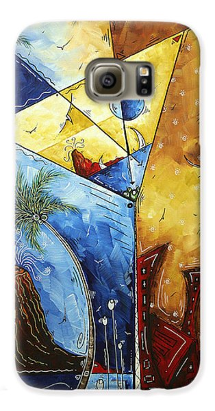 Island Martini  Original Madart Painting Galaxy S6 Case by Megan Duncanson