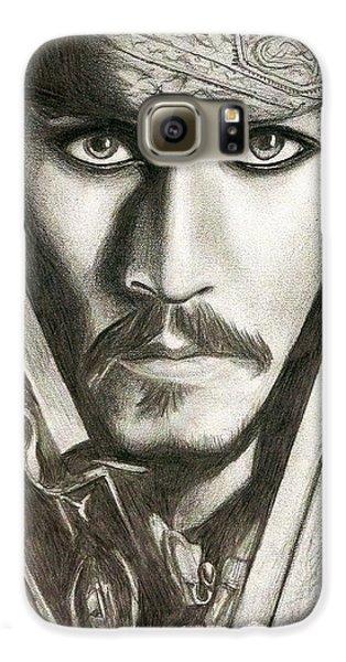 Jack Sparrow Galaxy S6 Case by Michael Mestas