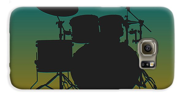 Jacksonville Jaguars Drum Set Galaxy S6 Case by Joe Hamilton