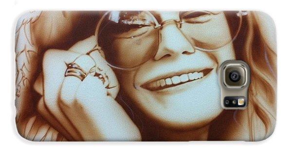 Janis Joplin - ' Janis ' Galaxy S6 Case by Christian Chapman Art