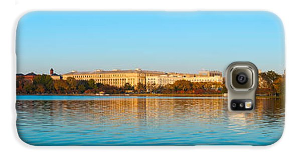 Jefferson Memorial And Washington Galaxy S6 Case by Panoramic Images