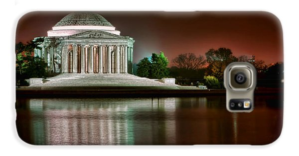 Jefferson Memorial At Night Galaxy S6 Case by Olivier Le Queinec