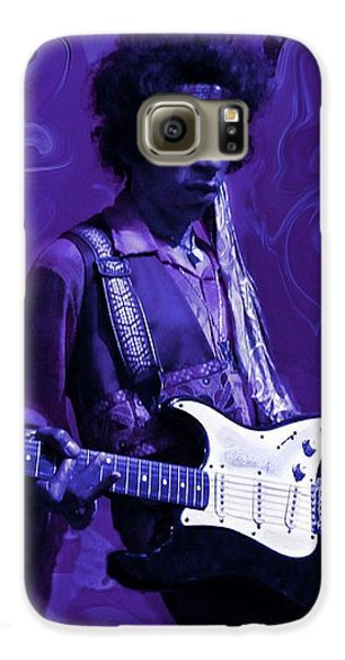 Jimi Hendrix Purple Haze Galaxy S6 Case by David Dehner