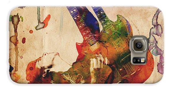Jimmy Page - Led Zeppelin Galaxy S6 Case by Ryan Rock Artist