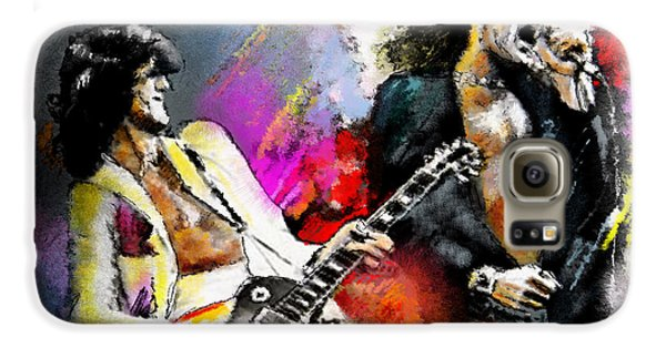 Jimmy Page And Robert Plant Led Zeppelin Galaxy S6 Case by Miki De Goodaboom
