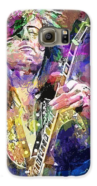 Jimmy Page Electric Galaxy S6 Case by David Lloyd Glover