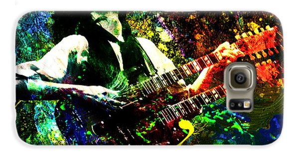 Jimmy Page - Led Zeppelin - Original Painting Print Galaxy S6 Case by Ryan Rock Artist