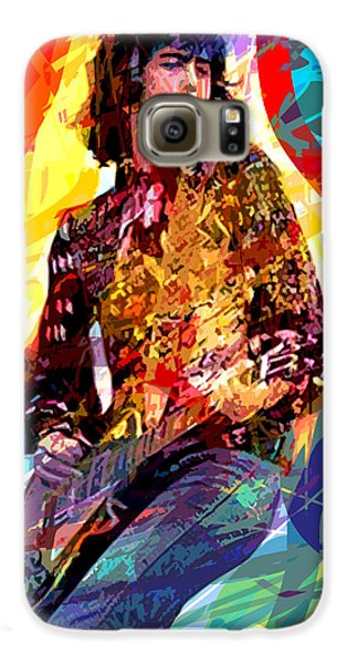 Jimmy Page Leds Lead Galaxy S6 Case by David Lloyd Glover