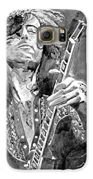 Jimmy Page Mono Galaxy S6 Case by David Lloyd Glover
