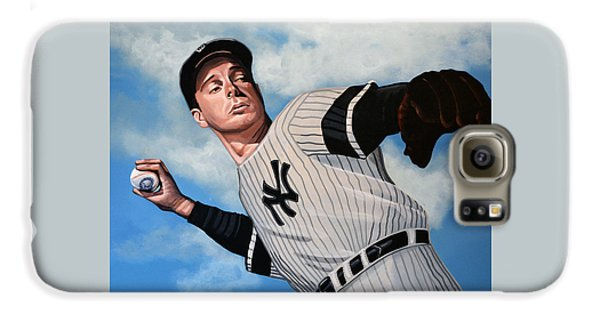 Joe Dimaggio Galaxy S6 Case by Paul Meijering