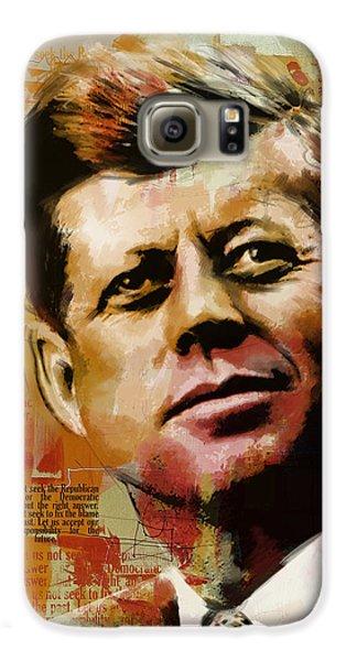 John F. Kennedy Galaxy S6 Case by Corporate Art Task Force