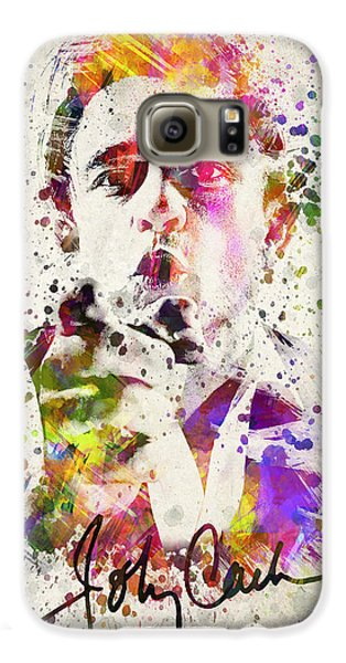 Johnny Cash  Galaxy S6 Case by Aged Pixel