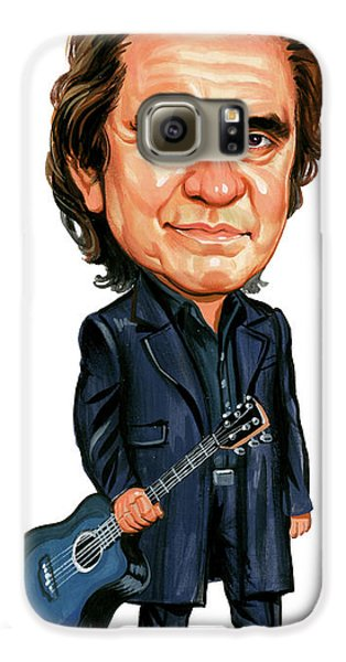 Johnny Cash Galaxy S6 Case by Art
