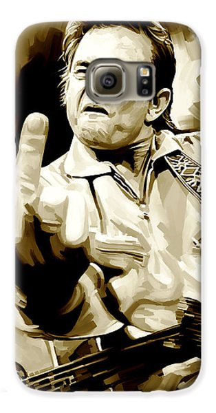 Johnny Cash Artwork 2 Galaxy S6 Case by Sheraz A