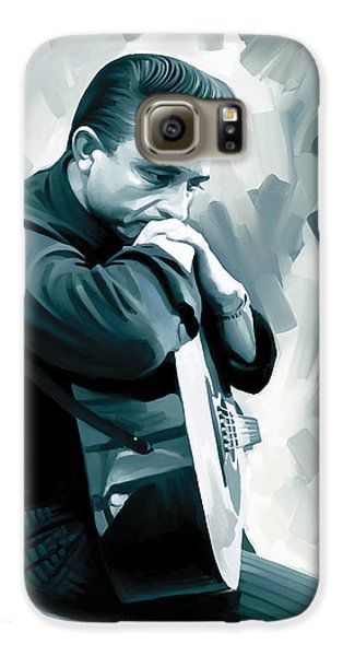 Johnny Cash Artwork 3 Galaxy S6 Case by Sheraz A