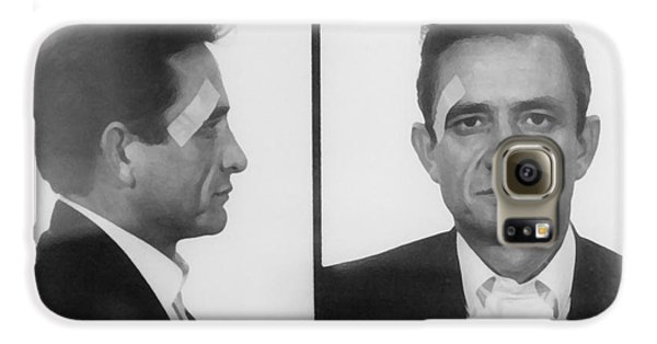 Johnny Cash Folsom Prison Galaxy S6 Case by David Millenheft