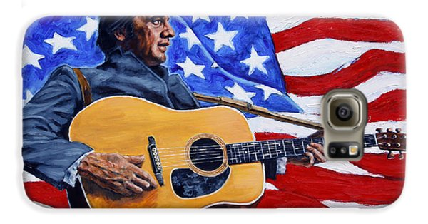 Johnny Cash Galaxy S6 Case by John Lautermilch