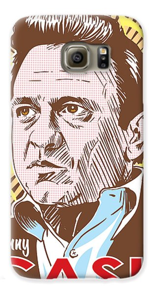 Johnny Cash Pop Art Galaxy S6 Case by Jim Zahniser