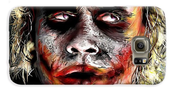 Joker Painting Galaxy S6 Case by Daniel Janda