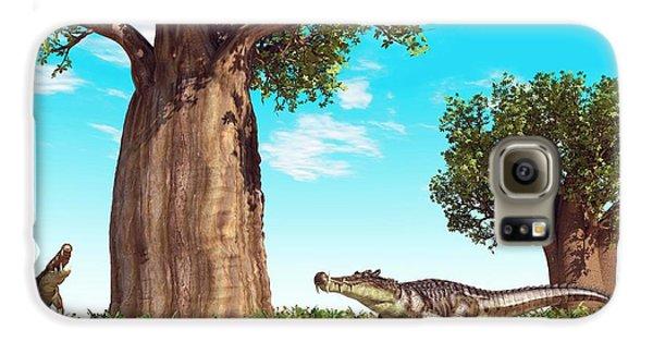 Kaprosuchus Prehistoric Crocodiles Galaxy S6 Case by Walter Myers