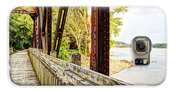 Katy Trail Near Coopers Landing Galaxy S6 Case by Cricket Hackmann