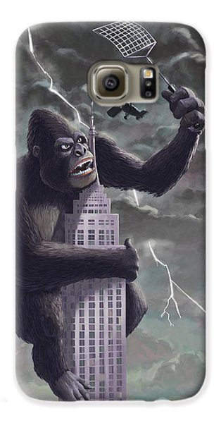 King Kong Plane Swatter Galaxy S6 Case by Martin Davey