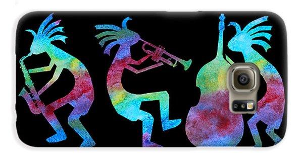 Kokopelli Jazz Trio Galaxy S6 Case by Jenny Armitage