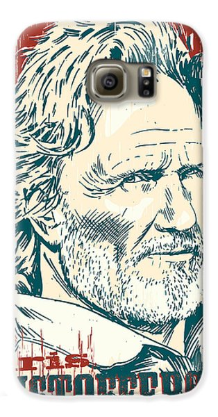 Kris Kristofferson Pop Art Galaxy S6 Case by Jim Zahniser