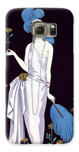 'la Roseraie' Fashion Design For An Evening Dress By The House Of Worth Galaxy S6 Case by Georges Barbier
