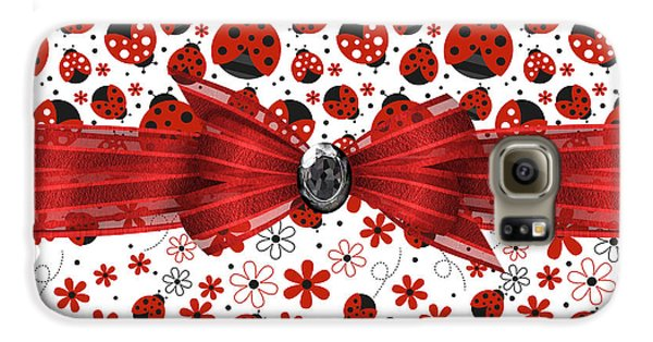 Ladybug Magic Galaxy S6 Case by Debra  Miller