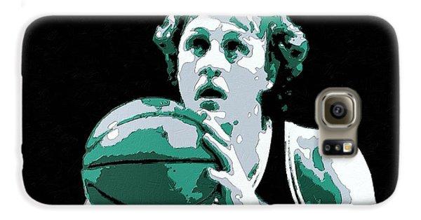 Larry Bird Poster Art Galaxy S6 Case by Florian Rodarte