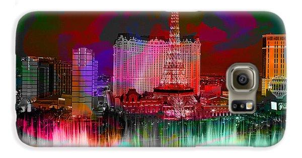 Las Vegas Bellagio Painting Galaxy S6 Case by Marvin Blaine
