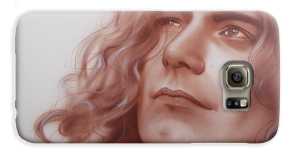 Robert Plant - ' Leaves Are Falling All Around ' Galaxy S6 Case by Christian Chapman Art