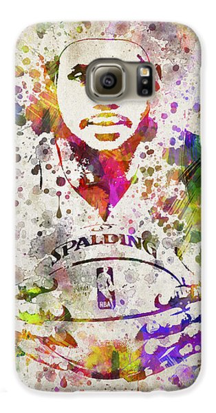 Lebron James In Color Galaxy S6 Case by Aged Pixel