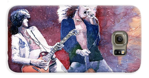 Led Zeppelin Jimmi Page And Robert Plant  Galaxy S6 Case by Yuriy  Shevchuk