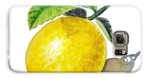 Lemon Galaxy S6 Case by Irina Sztukowski