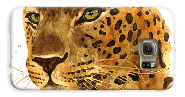 Leopard Gaze Galaxy S6 Case by Alison Fennell