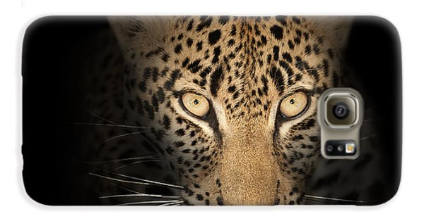 Leopard In The Dark Galaxy S6 Case by Johan Swanepoel